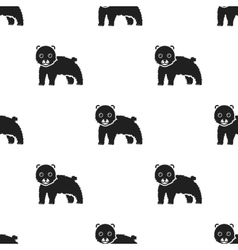 Bear icon in black style isolated on white vector