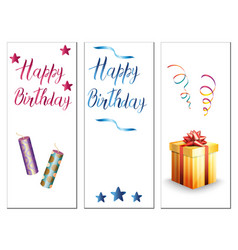 Birthday cards on a white background vector