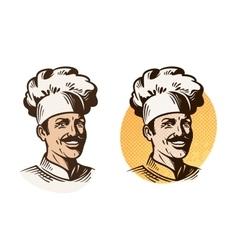 Chef baker cook symbol cooking restaurant or vector