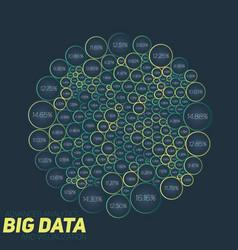 circular big data colorful vector image vector image