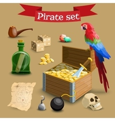 Collection of pirate vector