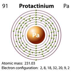 Diagram representation of the element protactinium vector image vector image