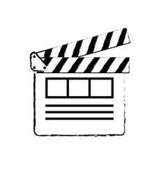 Figure clapperboard to short film projection vector