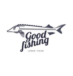 Fish flat icon pictogram silhouette vector