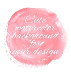 Hand drawn watercolor pastel background with text vector image vector image