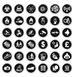 Hazard security and office Icon collection vector image vector image