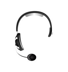 headset headphones icon image vector image vector image