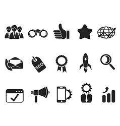 internet marketing icons set vector image