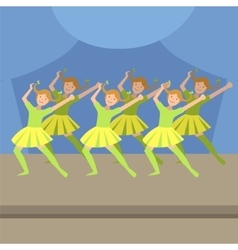 Kids synchronized modern dance performance vector