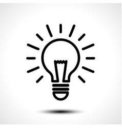 light bulb idea logo template vector image