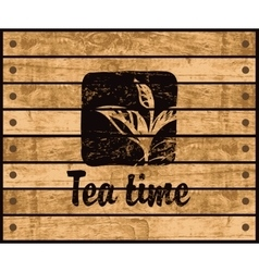 Logo of the tea time vector