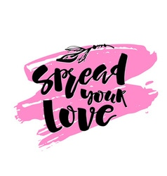 Love and charity concept hand lettering motivation vector