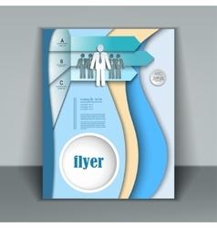 Modern business brochure vector