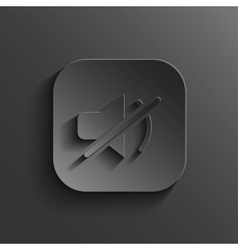Mute icon - black app button vector image vector image
