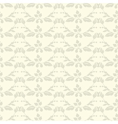 Neutral floral ornament Beige plant vector image