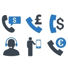 Phone order flat icons vector