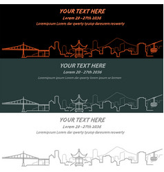 portland event banner hand drawn skyline vector image vector image
