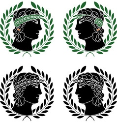 profile of greek men vector image
