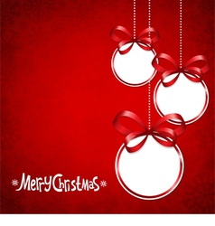 Red card for Christmas vector image vector image