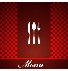 restaurant menu design with knife spoon and fork vector image vector image