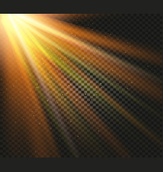 shining orange color light effects glowing vector image vector image