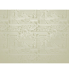 Silver circuit board background vector image