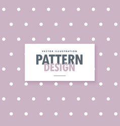 Soft purple polka dots pattern background vector