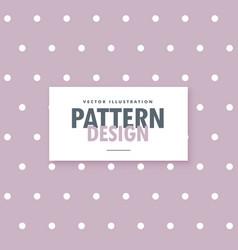 Soft purple polka dots pattern background vector