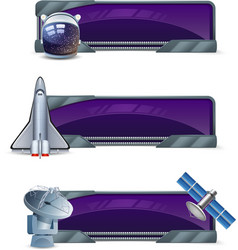 Space Banner Set vector image vector image