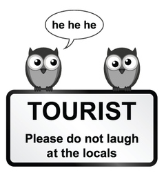Tourist sign vector