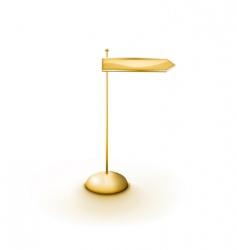 golden arrowed direction sign vector image