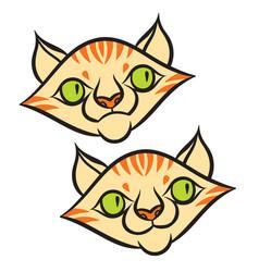 Cat head cartoon style vector