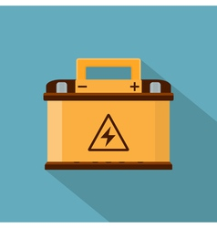 Flat car battery vector