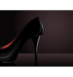 Black heel vector