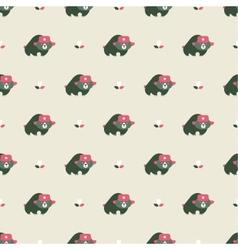 rusian bear seamless pattern vector image