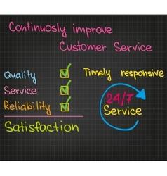 Customer service improvement vector