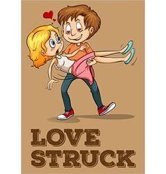 Love struck couple idiom vector image