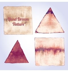 Vintage brown watercolor triangle and rectangle vector