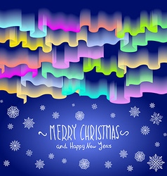 Northern lights abstract background merry vector