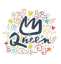 Print t-shirt for the queen vector