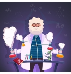 Professor of chemistry poster vector