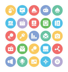 Communication icons c vector