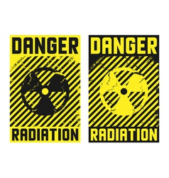 2 radiation posters vector