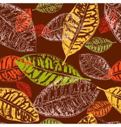 autumn leaves seamless2 vector image