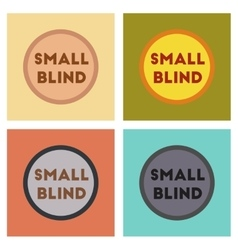 Assembly flat icons poker small blind vector