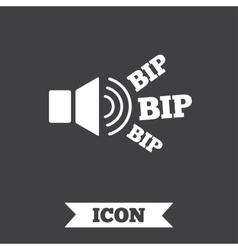 Speaker volume icon sound with bip symbol vector