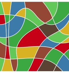 Abstract colored stained glass - mosaic vector