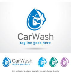 Car wash logo template design vector