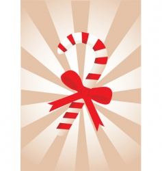 Christmas candy stick vector