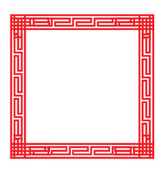 Classic chinese red square frame vector